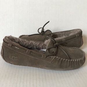 Ugg DAKOTA Driving Moccasin Slippers Grey 7 New